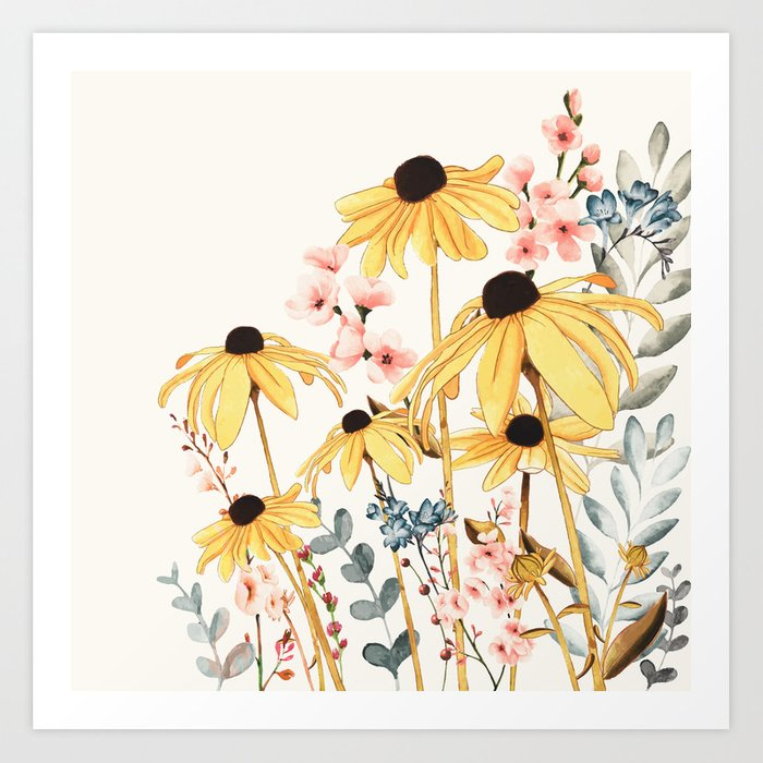 Summer Flowers Kunstdrucke