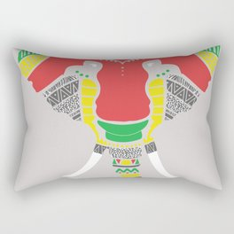 Colourful Elephant Rectangular Pillow