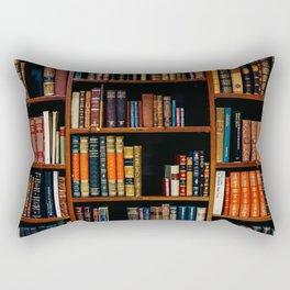 The Bookshelf (Color) Rectangular Pillow
