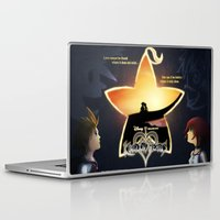 kingdom hearts Laptop & iPad Skins featuring Kingdom Hearts - Fated Together by Fancy Pants Artistry