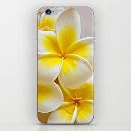 Plumeria Blossoms iPhone Skin