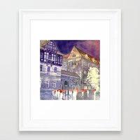 takmaj Framed Art Prints featuring street in Poznan part 1 by takmaj