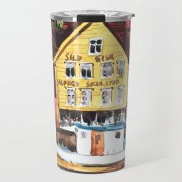 Old warf Bergen Norway Travel Mug