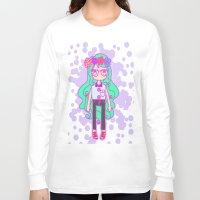 aqua Long Sleeve T-shirts featuring Aqua by Glopesfirestar