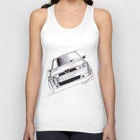 gta Tank Tops featuring Alfa Romeo 155 GTA by Michele Leonello
