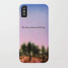 Oh, the Places We'll Go iPhone X Slim Case