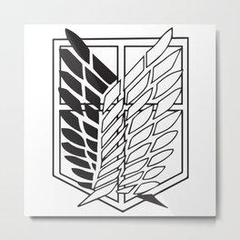 Attack on titan-Wings of freedom- AOT poster- shigenki no kyojin- Levi Acker man, mikasa, historia, Armin, nerd, otaku, geek gifts Metal Print