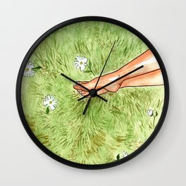Clothed in Sunshine Wall Clock
