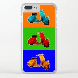 Vespa Vespa Vespa Vespa Clear iPhone Case