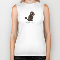 poodle Biker Tanks featuring Poodle by 52 Dogs