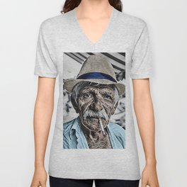The Old Man and the Sea Portrait Unisex V-Neck