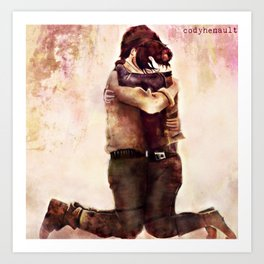 Rogue One watercolor - Jyn and Cassian Art Print
