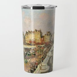 "Camille Pissarro ""Afternoon Sunshine, Pont Neuf"" Travel Mug"