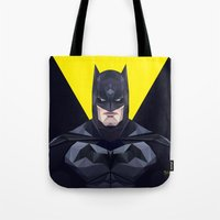 bat man Tote Bags featuring Bat man by Muito