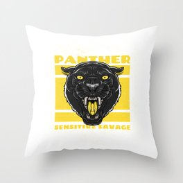 panther for people who like sensitive savages  Throw Pillow