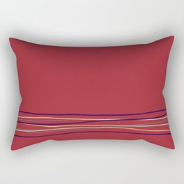 Multi Colored Scribble Line Design Bottom Rustoleum 2021 Color of the Year Satin Paprika & Accents Rectangular Pillow
