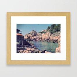 Hidden Coves On Spanish Islands Framed Art Print