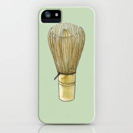 Chasen. Matcha whisk iPhone Case