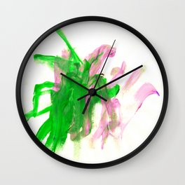 First paint abstract by Keira Wall Clock