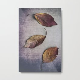 Autumn Leaves Trio II Metal Print