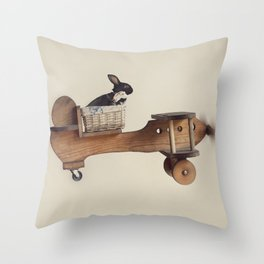 Hare Force Throw Pillow