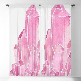 Rose Quartz Watercolor Blackout Curtain