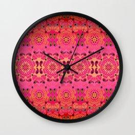 Pink Haze Bandana Ombre' Stripe Wall Clock