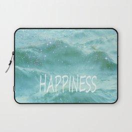HAPPINESS. Vintage beach Laptop Sleeve