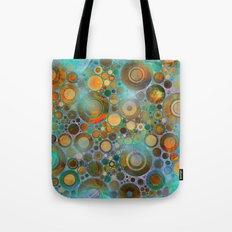 Abstract Circles Pattern Tote Bag