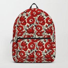 Halloween Roses Eyeballs Spiders Pattern Backpack