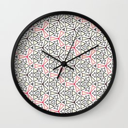 Flight from the Black & White & Red All Over Collection Wall Clock