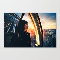 Paris Sunset Canvas Print