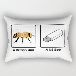 British vs US Bee Rectangular Pillow