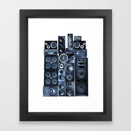 Music Speaker Sound Stack Framed Art Print
