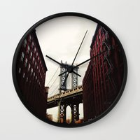 dumbo Wall Clocks featuring DUMBO by Britannie Bond