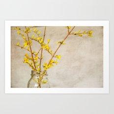 Spring in a jar Art Print