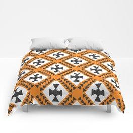 Ethnic cross pattern Comforters