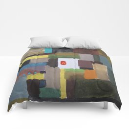 matin d'hiver, winter morning Comforters