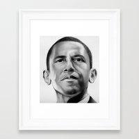 obama Framed Art Prints featuring Obama by Emma Porter