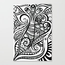 Trumpeting Tangle Canvas Print