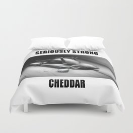 Seriously Strong Cheddar by dana alfonso Duvet Cover