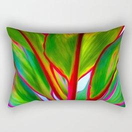 Ti Leaf Series #4 Rectangular Pillow