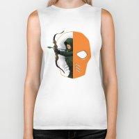 superheros Biker Tanks featuring Masked by Dooomcat
