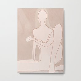 Abstract Woman Figure Metal Print