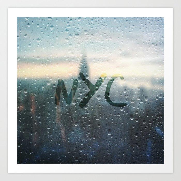 Rainy Day in NYC Art Print