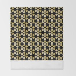 Golden Honeycomb Throw Blanket