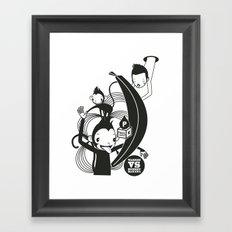 WARREN VS MONKEY BANANA Framed Art Print