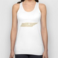 nashville Tank Tops featuring Nashville, Tennessee by Fercute