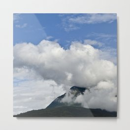 Mountain's 'Smoke Stack' of Big Puffy Clouds Metal Print
