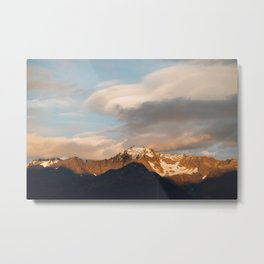 Alaskan Mountain Sunset Metal Print